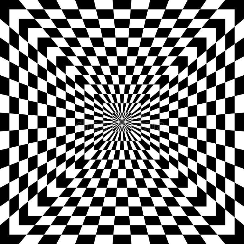 Geruite Optische illusie royalty-vrije illustratie