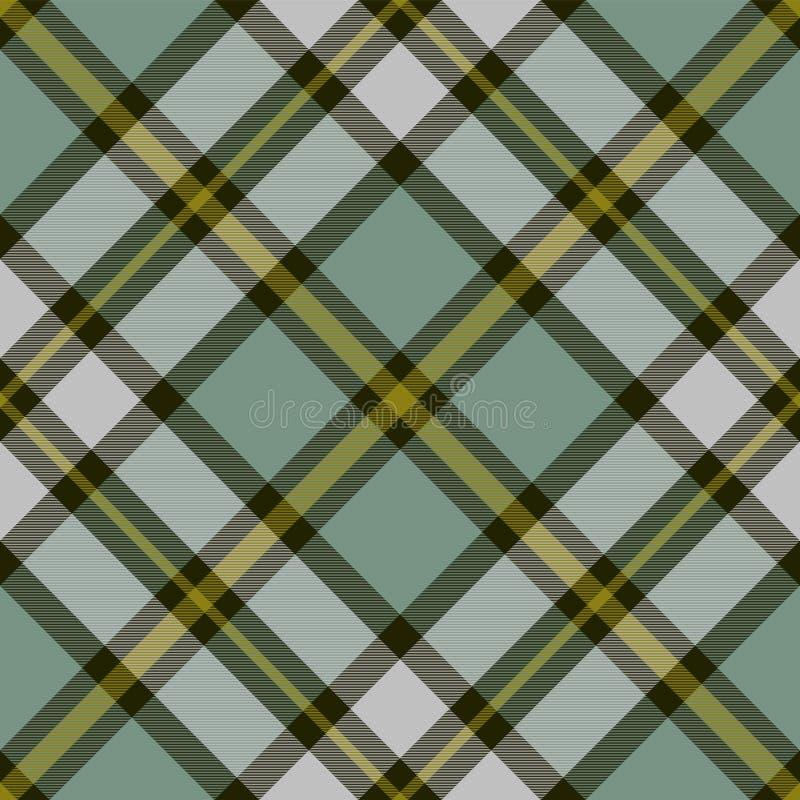 Geruite Schots wollen stof van het kaap het Bretonse District Naadloos patroon royalty-vrije illustratie