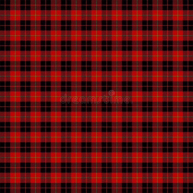 Geruite Schots wollen stof van het Kerstmis het nieuwe jaar Patroon Schotse kooi stock illustratie