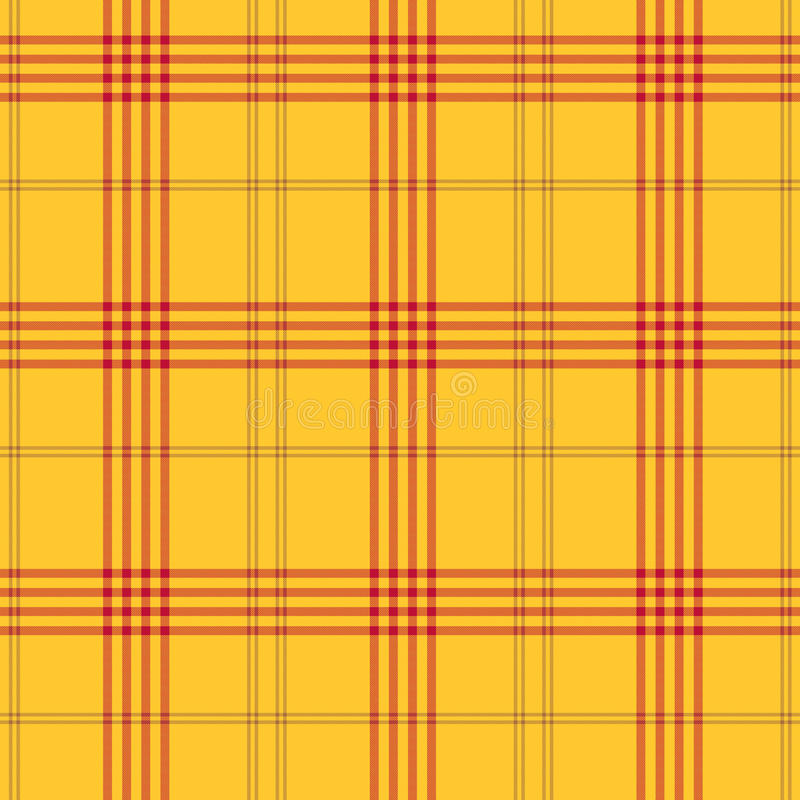 Geruite Schotse wollen stof stock fotografie