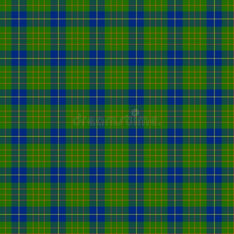 Geruite Schotse wollen stof royalty-vrije stock afbeeldingen