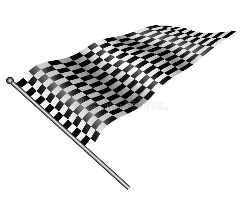 Geruite vlag. vector illustratie