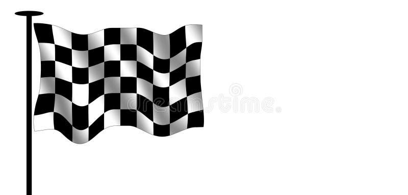 Geruite vlag stock illustratie