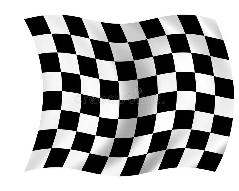 Geruite vlag royalty-vrije illustratie