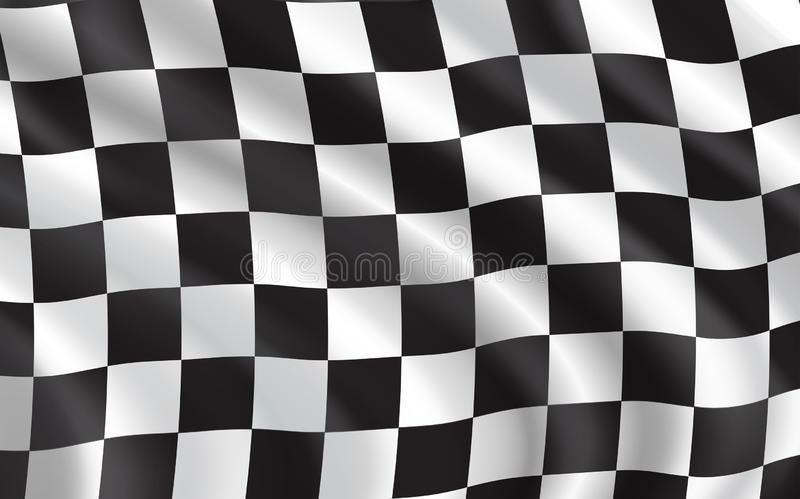 Geruite vlag, autorennensport royalty-vrije illustratie