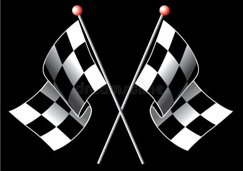 Geruite vlaggen vector illustratie