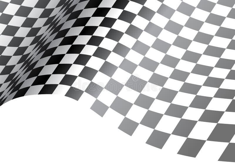 Geruite vlaggolf op wit ontwerp voor van het achtergrond raskampioenschap vector royalty-vrije illustratie