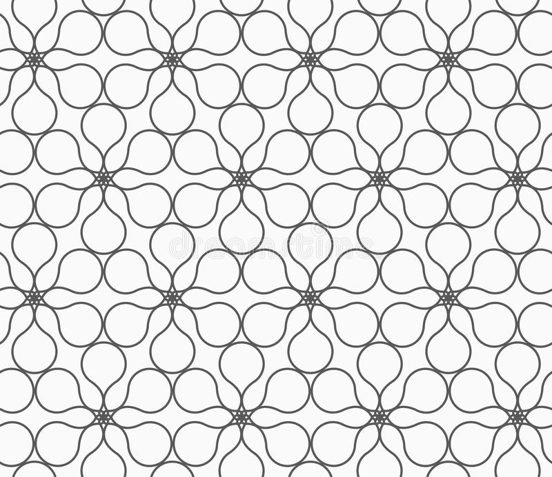 Gerundete Blumen des Graus sechs Pedal vektor abbildung