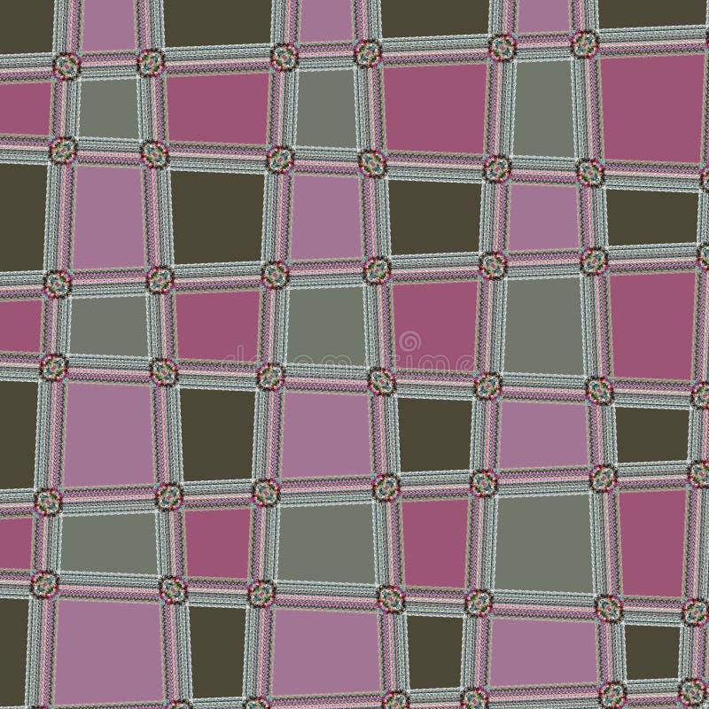 Gerundeter quadratischer abstrakter Dots Geometric Pattern Background vektor abbildung