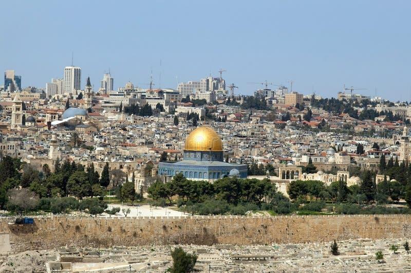 Gerusalemme - città santa per i musulmani, per i cristiani, per gli ebrei fotografie stock