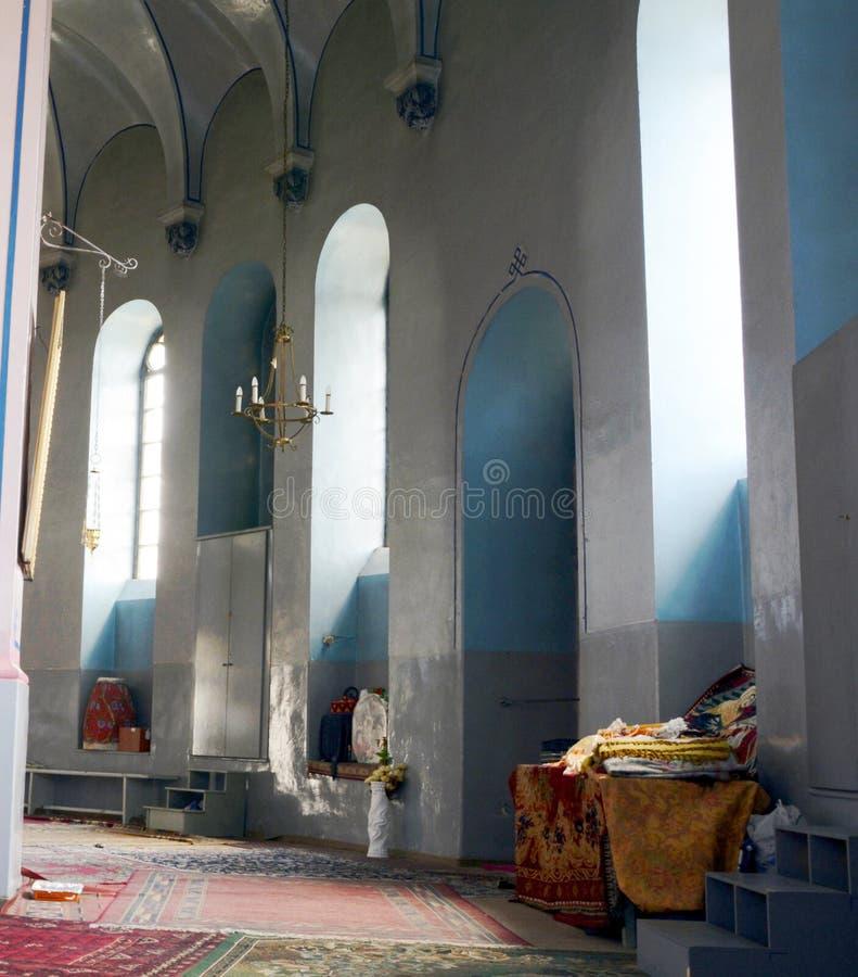 Gerusalemme, Israele, giugno 2015 interno dell'ortodosso etiopico fotografia stock libera da diritti