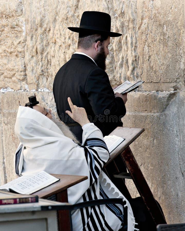GERUSALEMME, ISRAELE - 31 OTTOBRE 2014: J Hasidic non identificato fotografie stock