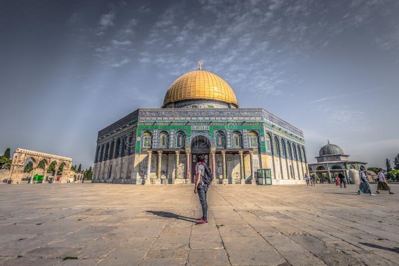 Gerusalemme - 04 ottobre 2018: La cupola della roccia nella vecchia città di Gerusalemme, Israele immagini stock