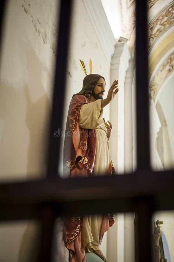 Gesù Cristo dietro le barre fotografie stock libere da diritti