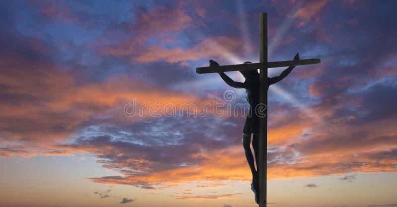 Gesù Cristo sulla traversa fotografia stock