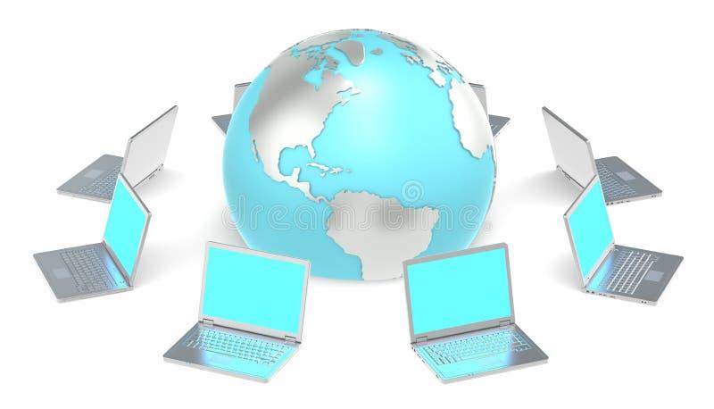Gesamt-Netzwerk. lizenzfreie abbildung