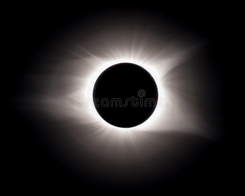 Gesamtheit während der Gesamtsonnenfinsternis stockbilder