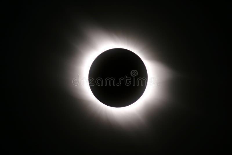 Gesamtsolareklipse von 29. März 2006 stockbilder
