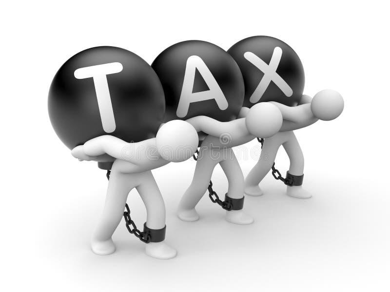 Gesamtsteuerlast stock abbildung