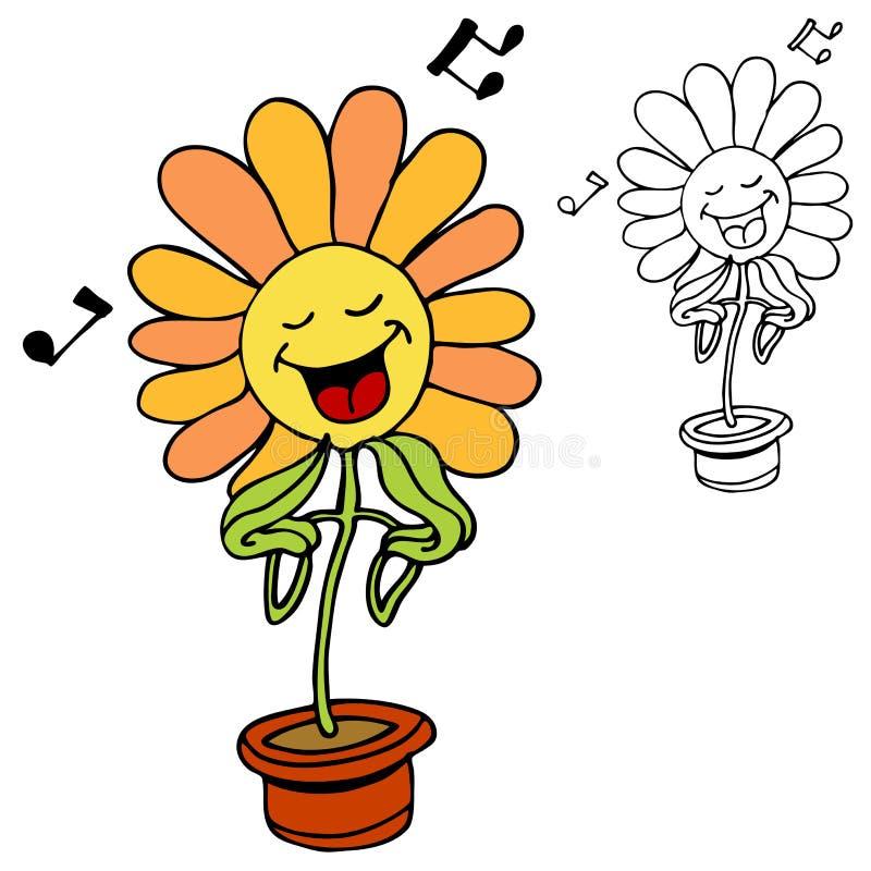 Gesang-Blume lizenzfreie abbildung