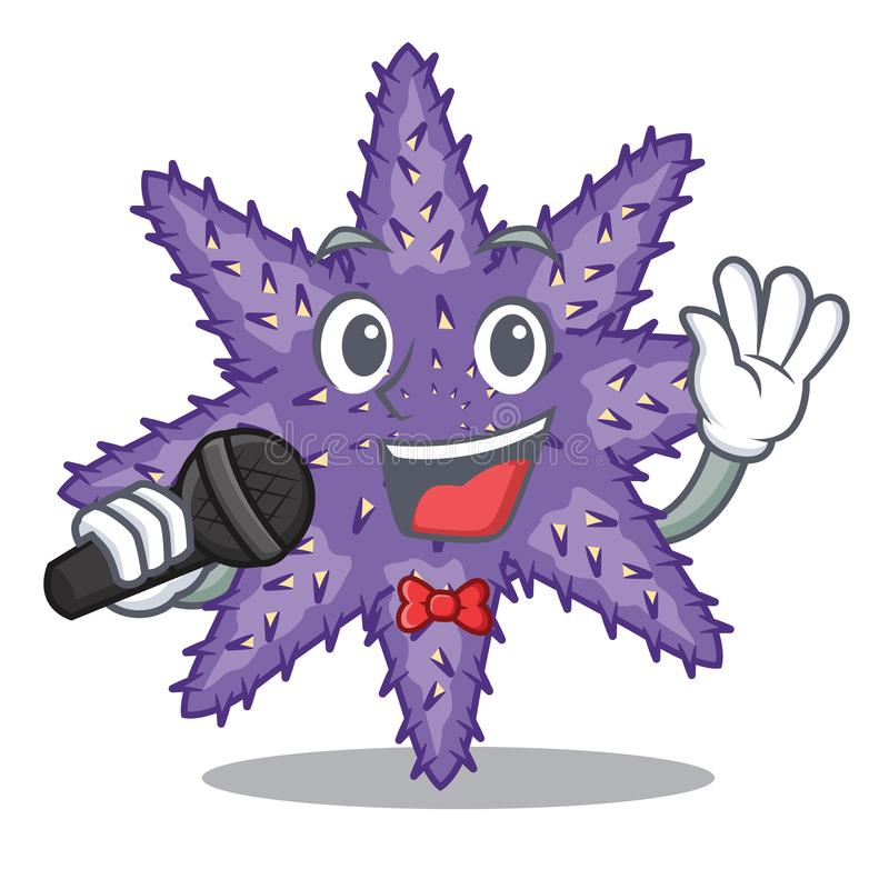 Gesang purpurrote Starfish in der Zeichenform stock abbildung