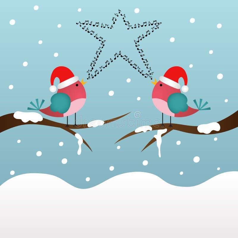 Download Gesang-Weihnachtsvögel vektor abbildung. Illustration von graphik - 47100972
