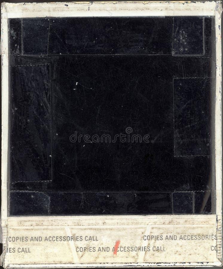 Geschädigte Polaroid-Rückseite stockbild
