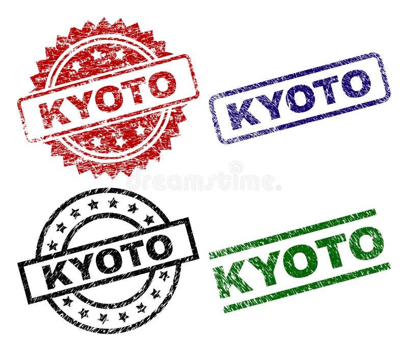 Geschädigte strukturierte KYOTO-Siegelstempel lizenzfreie abbildung