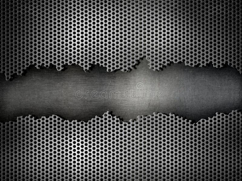 Geschädigter Metallindustrieller Hintergrund lizenzfreie stockbilder
