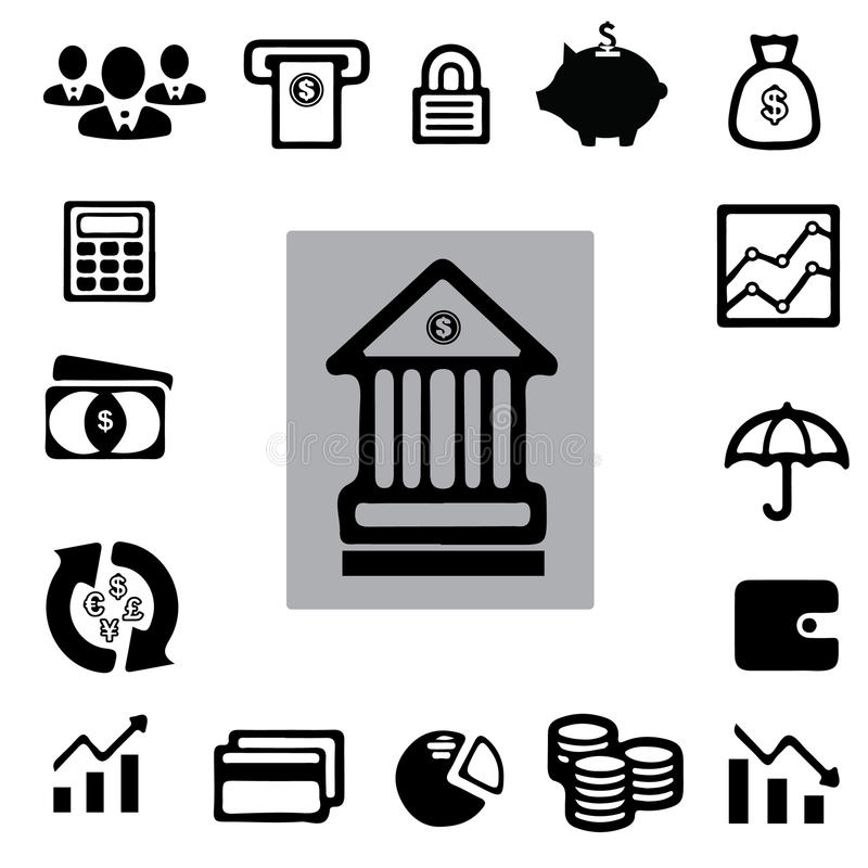 Geschäft ï ¼ † Finanzikonen-Satz stockfotos