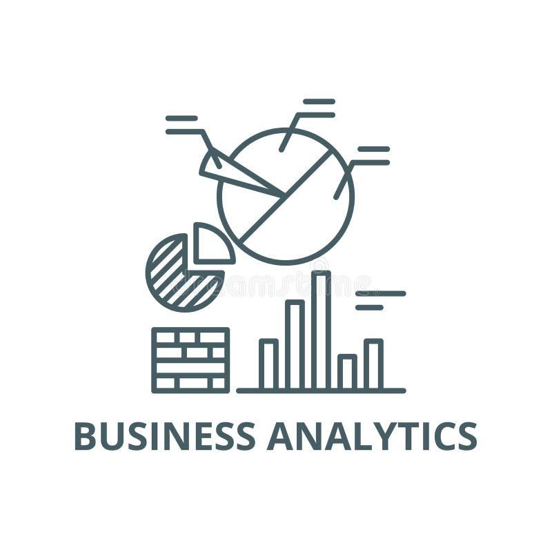 Geschäft Analyticslinie Ikone, Vektor Geschäft Analytics-Entwurfszeichen, Konzeptsymbol, flache Illustration vektor abbildung