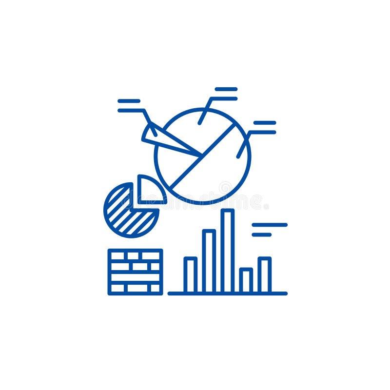 Geschäft Analyticslinie Ikonenkonzept Flaches Vektorsymbol Geschäft Analytics, Zeichen, Entwurfsillustration lizenzfreie abbildung