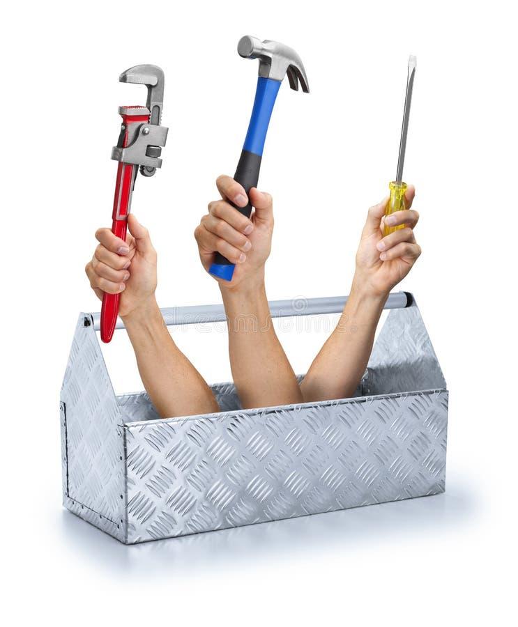 Geschäft bearbeitet Werkzeugkasten Toolkit lizenzfreies stockbild