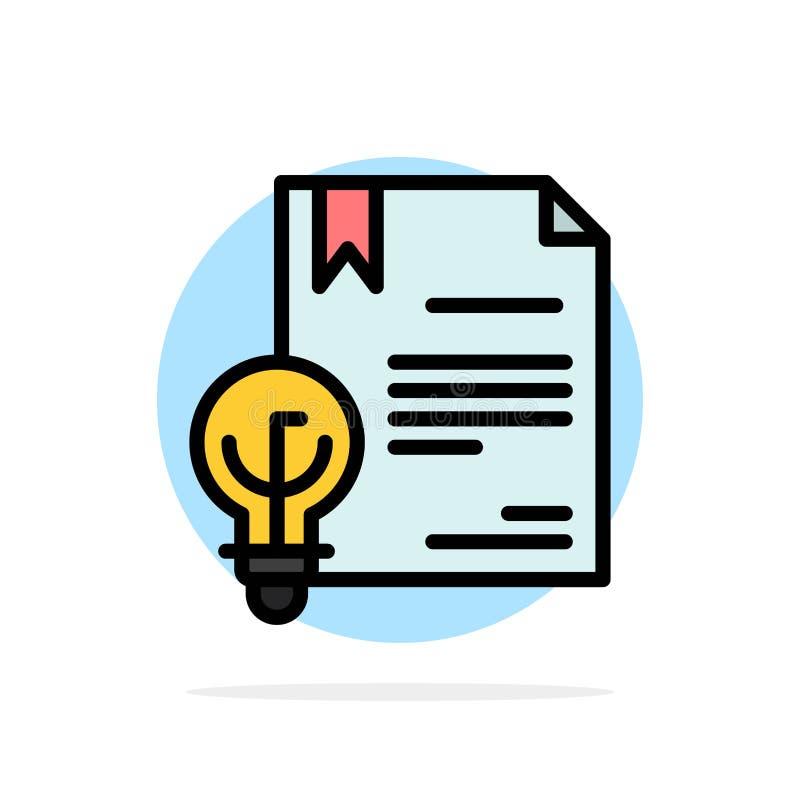 Geschäft, Copyright, Digital, Erfindung, flache Ikone Farbe Gesetzesdes abstrakten Kreis-Hintergrundes lizenzfreie abbildung