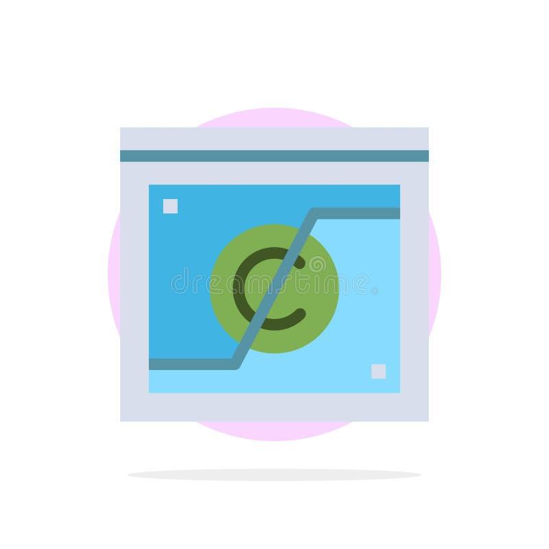 Geschäft, Copyright, Digital, Gebiet, flache Ikone Farbe Gesetzesdes abstrakten Kreis-Hintergrundes vektor abbildung