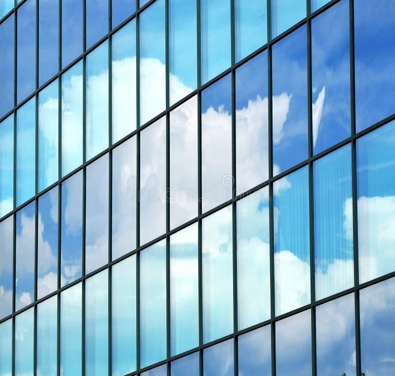 Geschäft, das abstrakten Hintergrundanblick aufbaut lizenzfreies stockbild