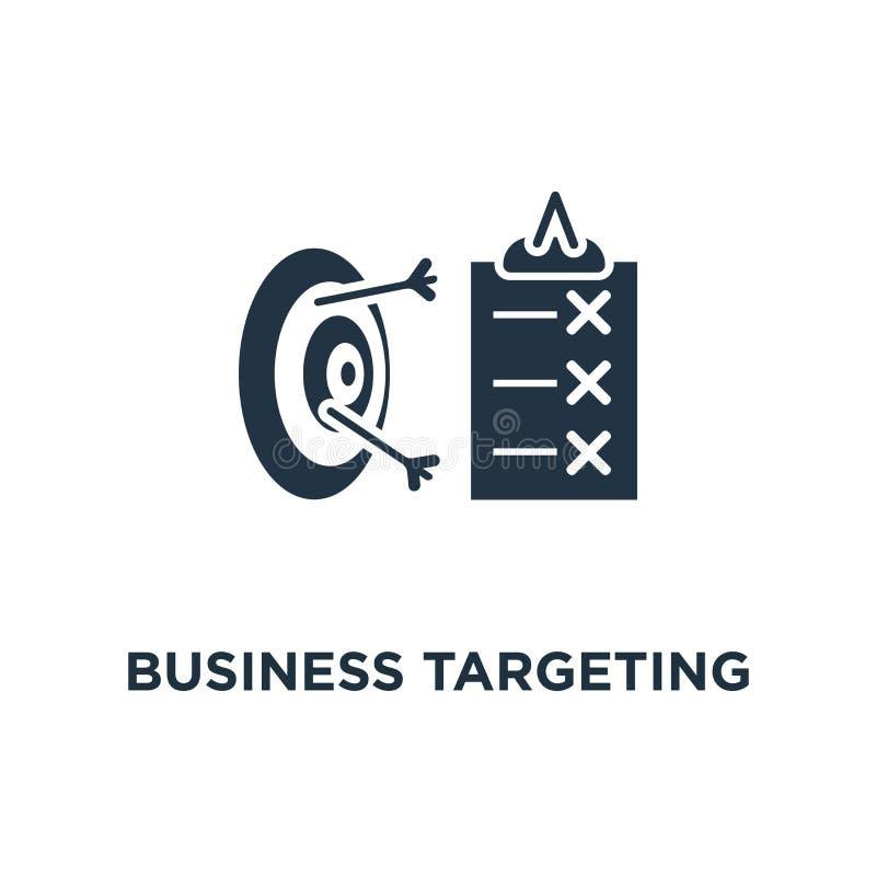 Geschäft, das Ikone anvisiert einfache Lösung, Einschreibung, Meinungsumfrage, Bedingungen Konzeptsymbolentwurf, erfolgreich lizenzfreie abbildung