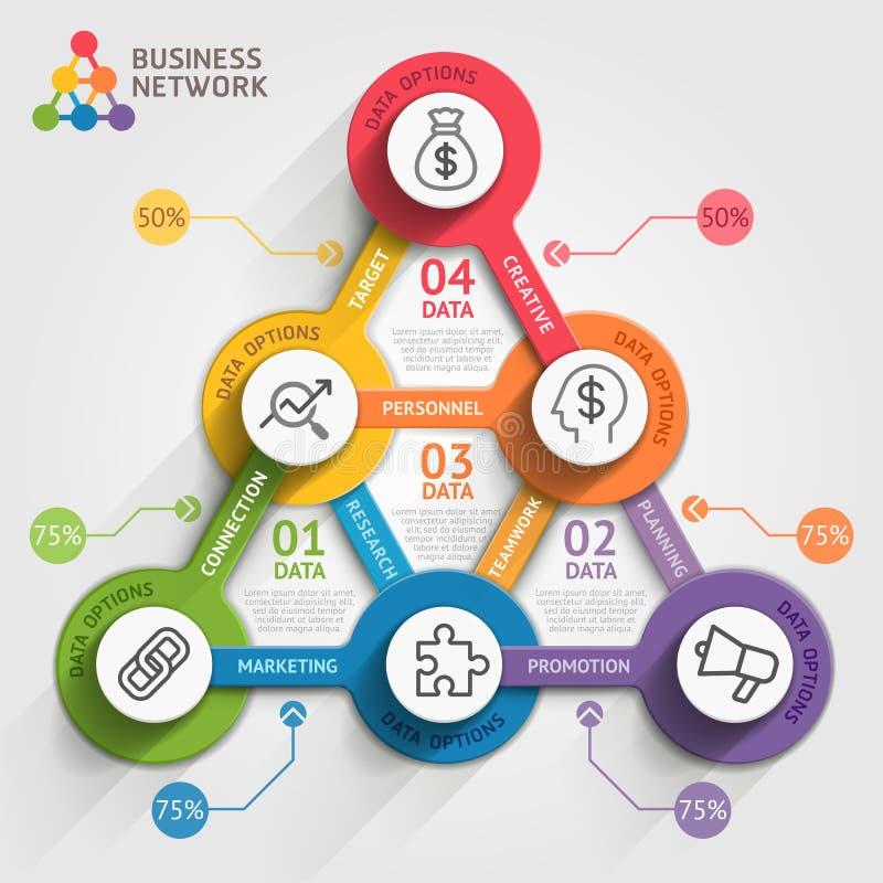 Geschäft, das infographic Schablone vermarktet lizenzfreie abbildung