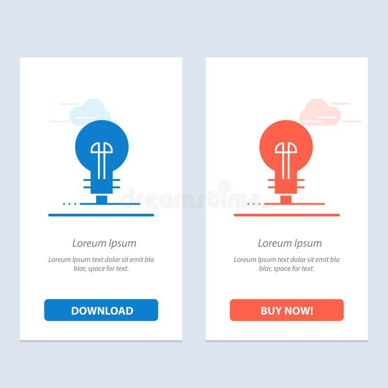 Geschäft, Definieren, Management, Produkt-Blau und rotes Download und Netz Widget-Karten-Schablone jetzt kaufen vektor abbildung