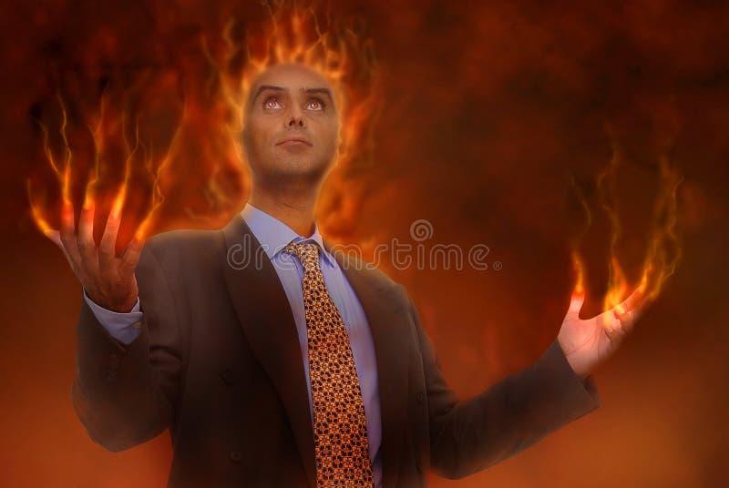 Geschäft in der Hölle lizenzfreie stockbilder