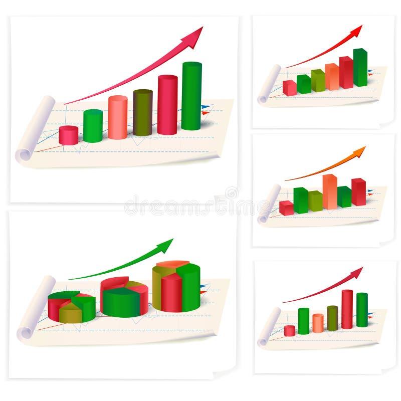 Geschäft diagrams Ansammlung vektor abbildung