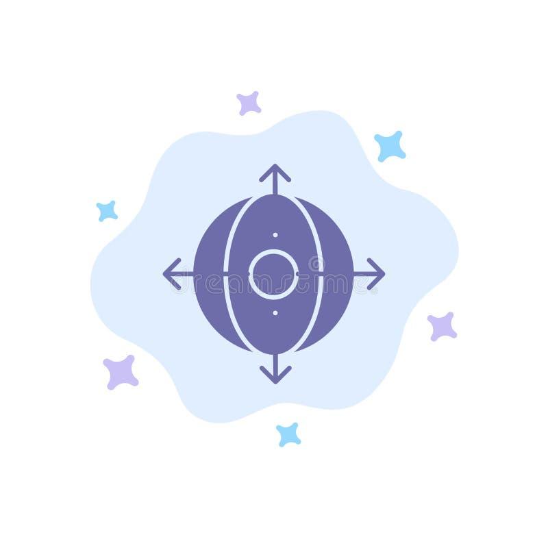 Geschäft, Entwicklung, Management, Produkt-blaue Ikone auf abstraktem Wolken-Hintergrund vektor abbildung