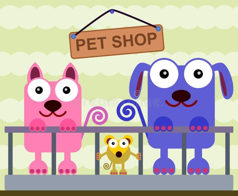 Geschäft für Haustiere lizenzfreie abbildung