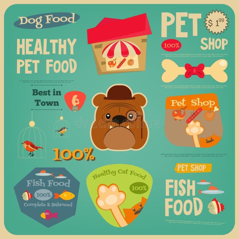 Geschäft für Haustiere stock abbildung