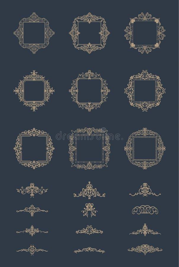 Geschäft Flourishzeichen und klassische Grenze des Logos vektor abbildung