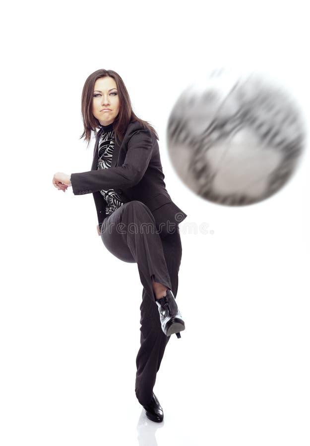 Geschäft foolball stockbilder