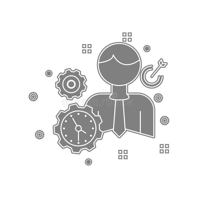 Geschäft, Frist, Ziel, Zielikone Element von popicon für bewegliches Konzept und Netz Appsikone Glyph, flache Ikone für Website vektor abbildung