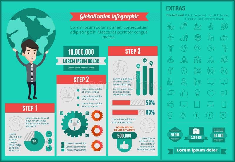 Geschäft glablozation infographic Schablone vektor abbildung