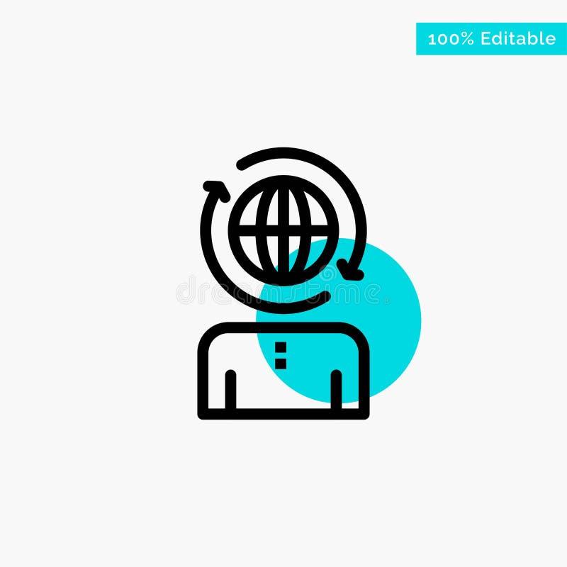 Geschäft, global, Management, moderne Türkishöhepunktkreispunkt Vektorikone vektor abbildung