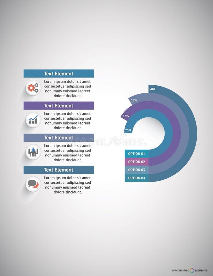 Geschäft Infographic lizenzfreies stockbild